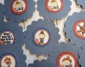 Special Pricing on these Only     Set of 15 Little Cowboy Cupcake Toppers