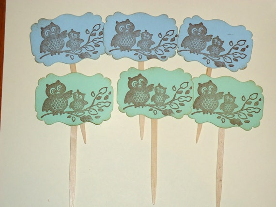 Set of 6 Cupcake Toppers for a Birthday Make a Big Wish