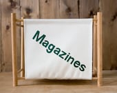 Vintage Canvas Magazine Rack