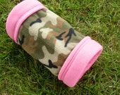 SALE Fleece Guinea Pig Tunnel for Small Animals -- Girly Camo (M)