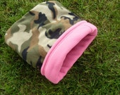 SALE Fleece Cozy Sack for Guinea Pigs and Small Animals -- Girly Camo (M)