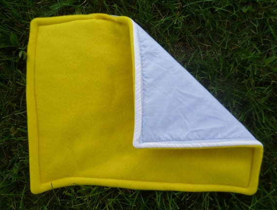 Waterproof Fleece Lap Pad for Guinea Pigs and Small Animals -- Tulip Yellow
