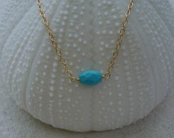 Sky - Sleeping Beauty Turquoise & 14K Gold-fill Bracelet