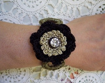 BLACK BEAUTY Crocheted BRACELET