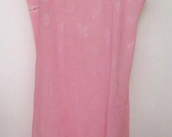 Reduced 20% Vintage Pink Butterflies SAKS FIFTH AVENUE slip dress
