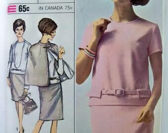 VTG 1966 Simplicity 2-pc  Dress & Cape Pattern size 12 unused