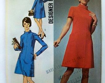 Vintage 1970 Simplicity Dress Pattern siz 14 uncut