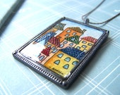 Strega Nona's 'Hood - Hand Painted Pendant, READY TO SHIP