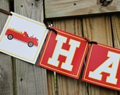 Firetruck Birthday Banner JPEG