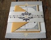 Vintage French Baroque Wedding Invitation Download,Custom Wedding Invitation Printable,DIY Digital Invite,Fleur De Lis Wedding Invitations