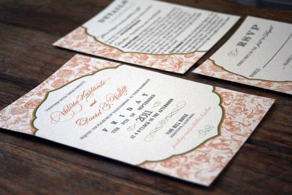 Labels For Wedding Invites: Vintage Modern Wedding InvitationRustic By Bdesignsinvitations