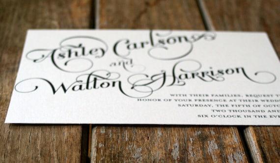 Elegant Calligraphy Wedding Invitation Download Modern