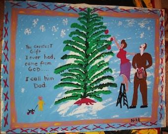 Christmas Tree Wish Daddy
