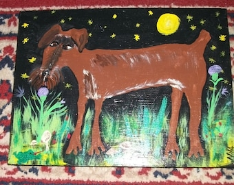 My Puppy dog-original painting by NitA marked 1/2 off