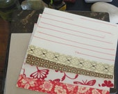 Sewn cards, mix and match range set of - 4 cards with envelopes