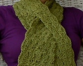 RESERVED for Splurge--Peridot green organic cotton scarf