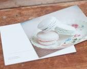 Macarons, fine art photography postcard set, 4x6, dreamy, sweets. romantic, vintage, pink, mint, minty, green, purple