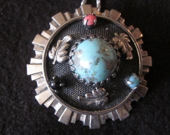 Bright as the Sun Vintage Necklace/Pendant