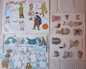 Vintage Paper Doll Lot