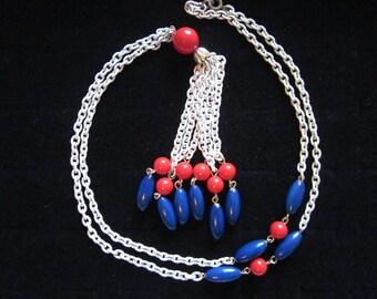 Red, White & Blue - Vintage Patriotic Necklace