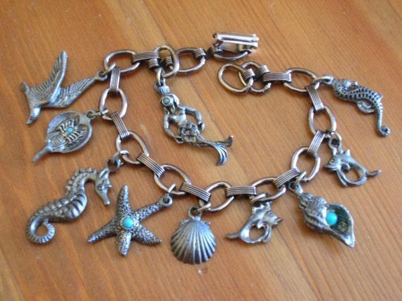 Vintage Creatures of the Sea Charm Bracelet