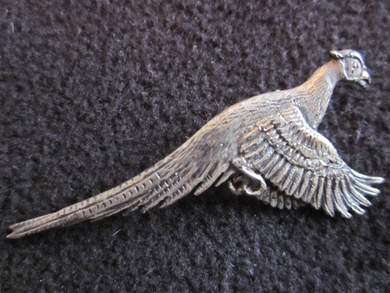Vintage Sterling Silver SID BELL Pheasant Pin
