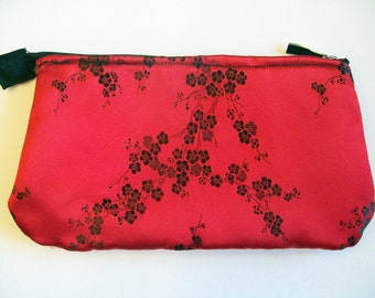Clutch, Red and Black Cherry Blossom
