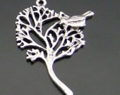 3 Bird in a Tree Pendant Charms