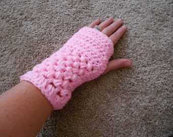 Pink wrist warmers