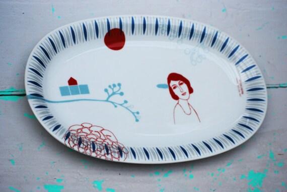 Vintage platter Madeleine