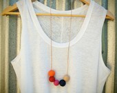 bright polymer clay bead necklace.