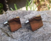 Unique Well-Made Dogwood Wood Cufflinks - Great Jewelry Gift for Fathers Day, Birthdays, Graduation, Anniversary, Groomsmen - 5/8 inch - 998
