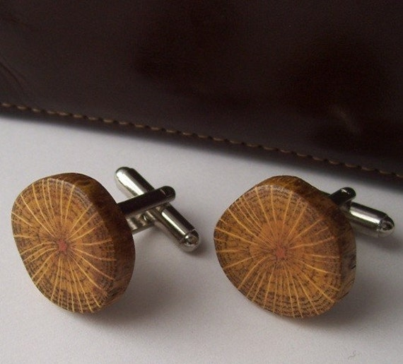A Unique Naturally Shaped Oak Tree Branch Cufflinks - Perfect Gift For Birthdays, Wedding, Anniversaries, Boss Day, And Graduation - 3/4 inches - 552