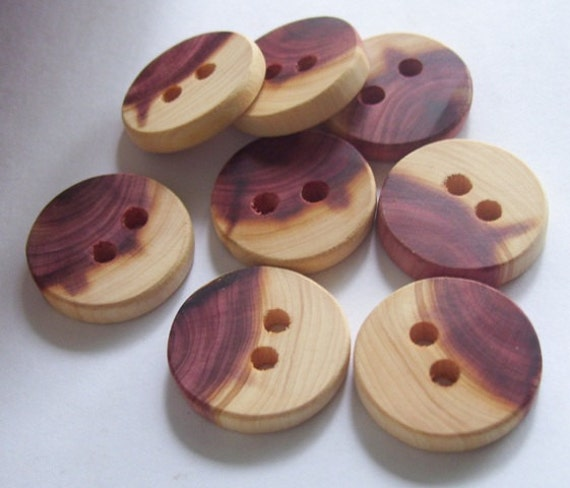 8 Stunning Handmade Cedar Tree Branch Wood Buttons By Oruaka