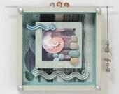 Original art work,nature themed shadow box, 8x8, meditative , wall art,handmade