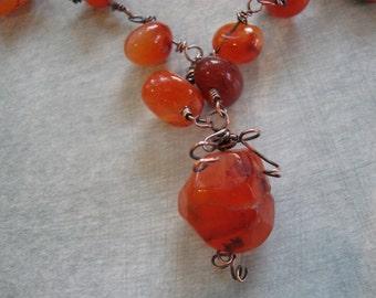 Carnelian Tumbled Necklace