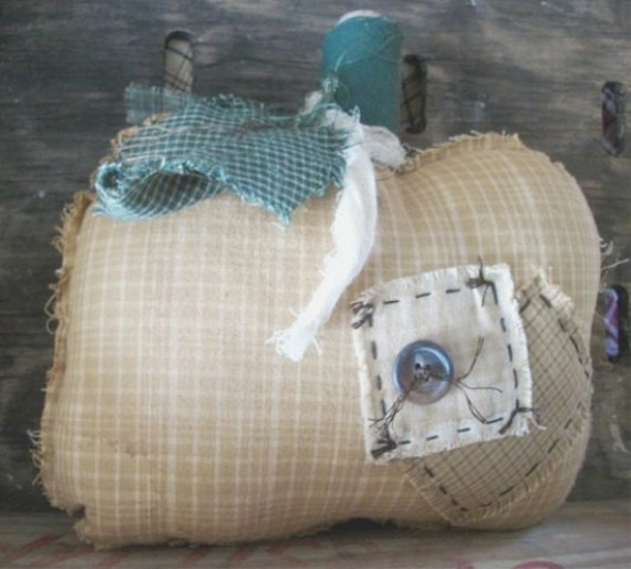 Fall Primitive Pumpkin Cupboard Tuck