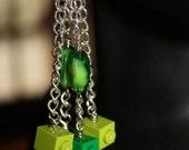 Unique Block Inspired Earrings