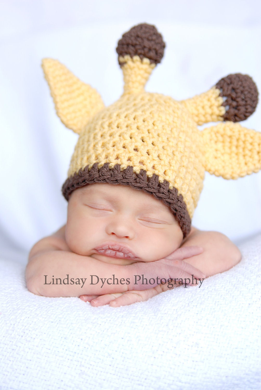 Crochet Pattern Giraffe Hat : Baby boy girl crochet Giraffe beanie hat