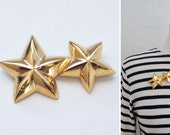 Vintage Gold Star Pin