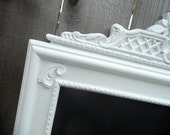 Custom Order for sumshine - - 24inx39in Vintage Antique White Ornate Magnetic Board with Pink Damask Fabric