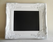 CHALKBOARD Wedding Sign Chalkboard Photo Booth Prop Magnetic Shabby Chic Chalk Board Kitchen Nursery Wedding Photo Prop - YOU Choose COLOR