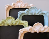 CHALKBOARD Pastel Decor Picture Frame Photo Prop Spring Baby Shower Sign Birthday Party Decoration Blue Green Pink Ivory - MORE COLORS - ShugabeeLane