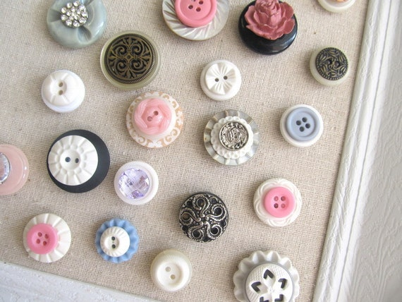 20 Extra Button Magnet or Push Pin Collection Set