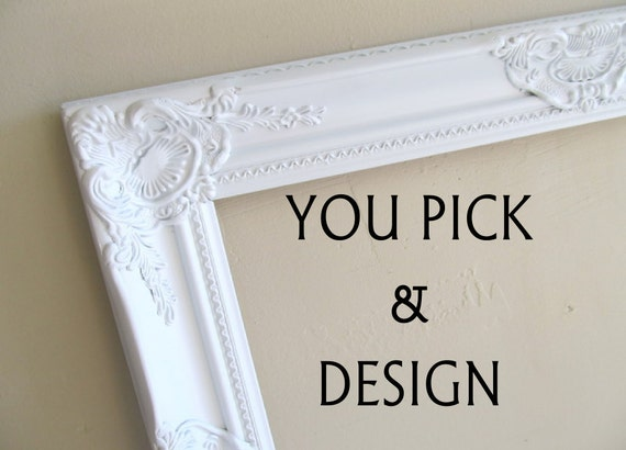 CUSTOM Home Decor Framed Cork Board Design Your Own Bulletin Board Fabric Decorative Memo Board Magnet Board Framed Chalkboard Kitchen