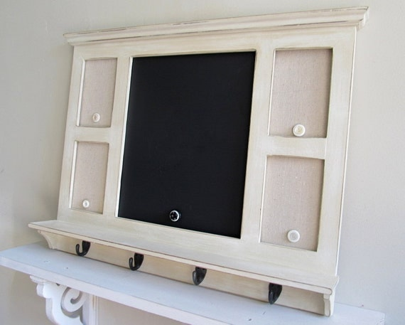 Message Center With Hooks Chalkboard Magnet Board Kitchen