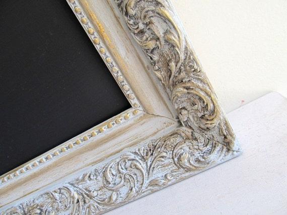 FRAMED CHALKBOARD Kitchen Framed Chalk Board Vintage Wedding Menu MAGNETIC Wedding Menu Seating Chart Grey Restaurant Magnet