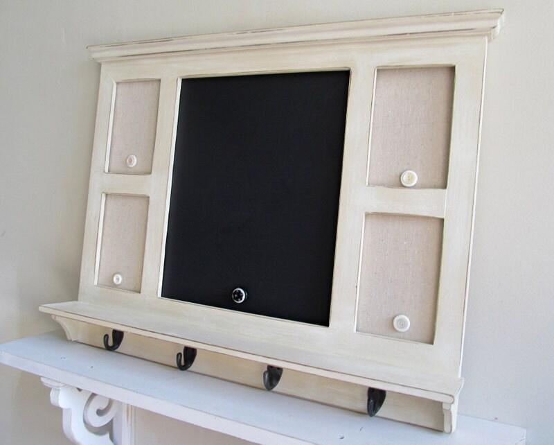 MESSAGE CENTER With HOOKS Chalkboard Magnet Board Kitchen