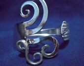 Silver Fork Bracelet in Original Fancy Design Number Five