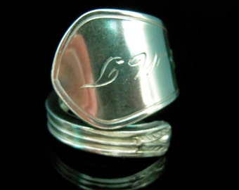 Sterling Silver Spoon Ring - Antique Silverware Jewelry